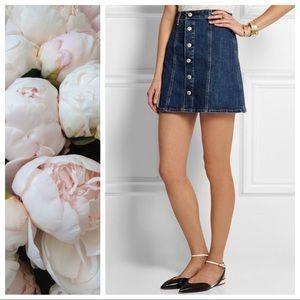 AG for Alexa Chung Kety Denim Mini Skirt Size 29